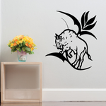Flower and Bison Decal