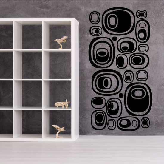 Solid Futuristic Pebble Wall Decals Kit