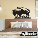 Bison on Grass Decal