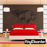 Bison on Fire Decal