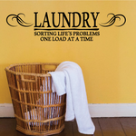 Laundry Sorting Life's Problems One Load At A Time Wall Decal