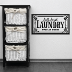 Self-Serve Laundry Wall Decal