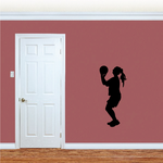 Female Basketball player Wall Decal - Vinyl Decal - Car Decal - 035