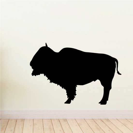 Proud Bison Buffalo Silhouette Decal
