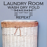 Laundry Room Wash Dry Fold Repeat Wall Decal