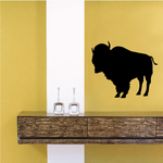 Dominant Bison Buffalo Silhouette Decal