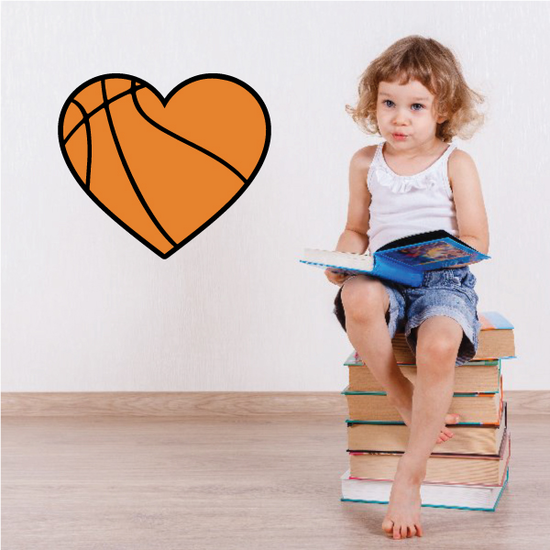 Basketball Heart Sticker