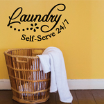 Laundry Self Serve 24/7 Wall Decal