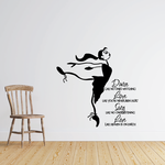 Dance Love Sing Love Wall Decal