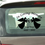 Music Playing Angels Custom In Loving Memory Decal