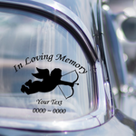 Angel with Arrow Custom In Loving Memory Decal