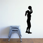 Girl Basketball Wall Decal - Vinyl Decal - Car Decal - 019