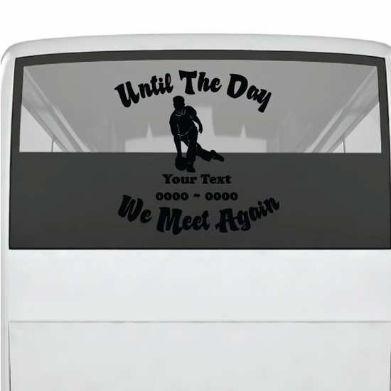 Bowling Custom In Loving Memory Decal