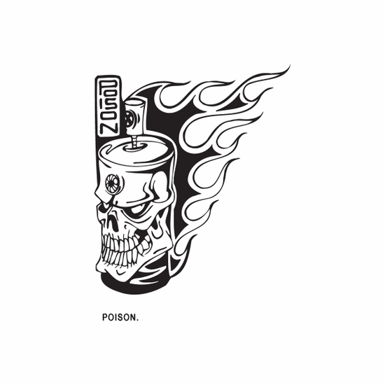 Spray Paint Can Skull Decal
