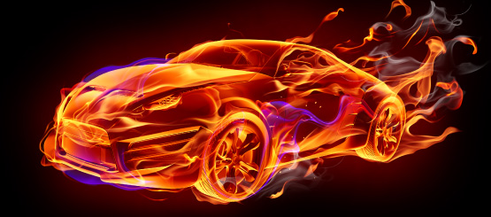 Flame Car Decals
