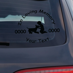 Boy Playing with Dog Custom In Loving Memory Decal