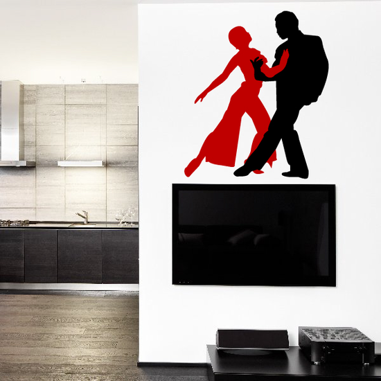 Couple Dancing Wall Decal - Vinyl Decal - Car Decal - BA001