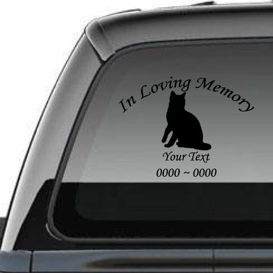 Bengal Cat Custom In Loving Memory Decal