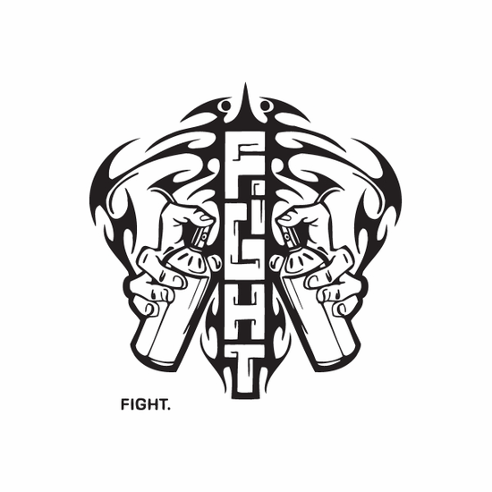 Spray Paint Cans Fight Decal