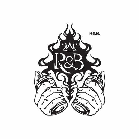 R&B Spray Paint Cans Decal