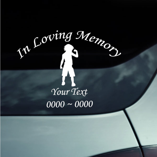 Strong Boy Custom In Loving Memory Decal