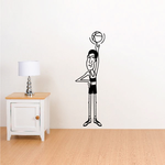 Cartoon Basketball Player Spinning Ball with Finger Decal