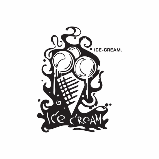 Ice Cream Graffiti Decal