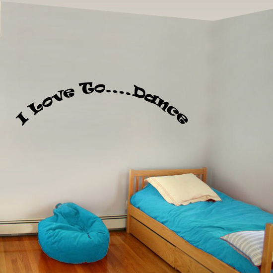 I love to Dance Wall Decal