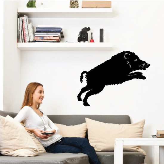 Boar Jumping Decal