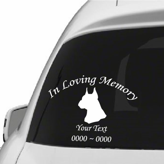 Boxer Dog  Custom In Loving Memory Decal
