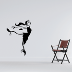 Dancing Girl Sports Vinyl Wall Decal Sticker Mural Quotes Words DANCERV
