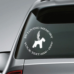 Dog with Wings Custom In Loving Memory Decal