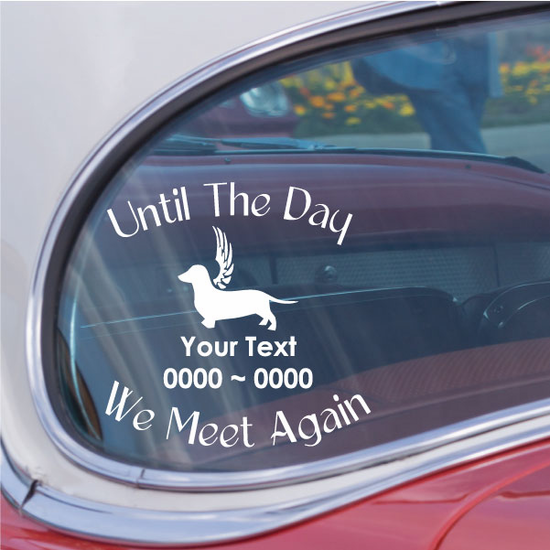 Dachshund with wings Custom In Loving Memory Decal