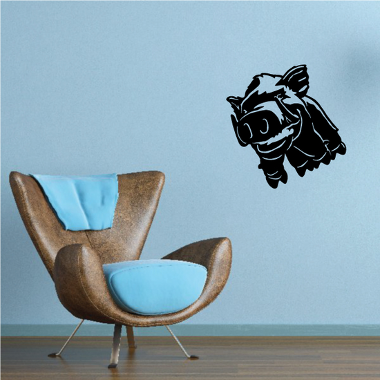 Boar Grinning Decal