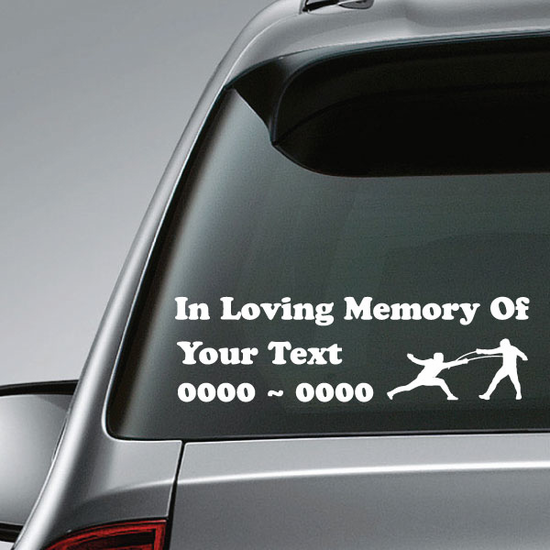 Fencing Custom In Loving Memory Decal