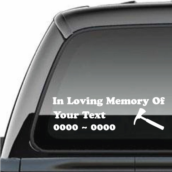 Firefighter Custom In Loving Memory Decal