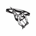 Wakeboarding Batwing Decal