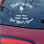 Flower in Bloom Custom In Loving Memory Decal