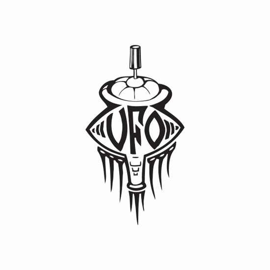 UFO Spray Paint Can Decal