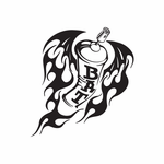Spray Paint Can with Wings Flying Decal