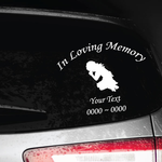 Girl Kneeling and Praying Custom In Loving Memory Decal