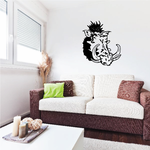 Boar Head With Tusks Decal