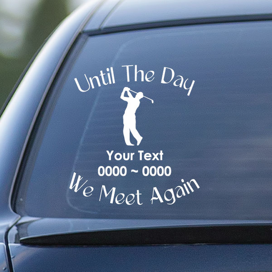 Golf Custom In Loving Memory Decal
