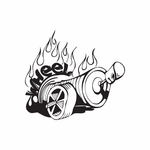 Spray Paint Can on wheels Decal