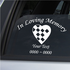 Checkered Heart Custom In Loving Memory Decal