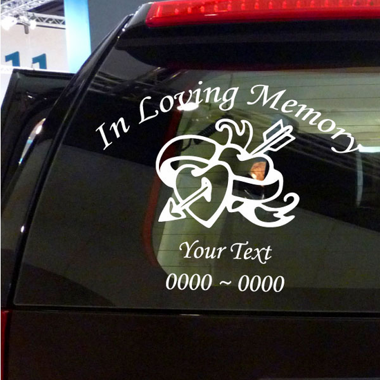 Heart with Arrow Custom In Loving Memory Decal