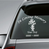 Heart Cross Custom In Loving Memory Decal