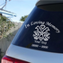 Doves with Hearts Custom In Loving Memory Decal