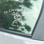 Dove with Heart Branch Custom In Loving Memory Decal