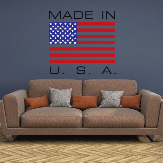 Made in the USA Ameican Flag Printed Die Cut Decal